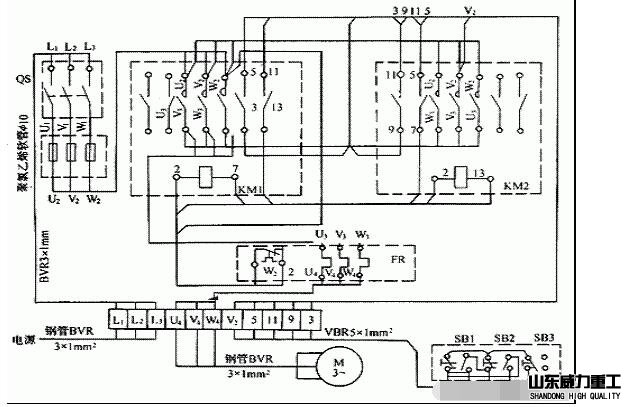 z3050液压摇臂钻床电气控制接线图